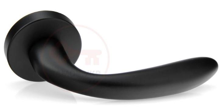 Дверная ручка на розетке Forme Milly 133A черный матовый (Италия)