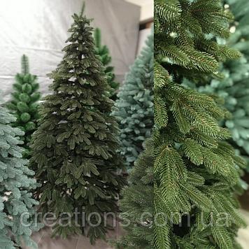 Ялинка Елітна лита Преміум 2.3 м. зелена, реалістична новорічна