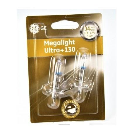 Автолампа галоген GE H1 55W 12V (2 шт./блистер) Megalight Ultra +130%