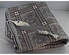 Электропростынь с сумкой electric blanket 150*170 клетчатый серый