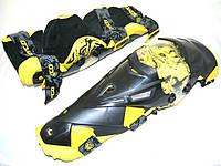Мотозащита (наколенники) SCOYCO K12-Y (пластик, PL, черный-желтый)