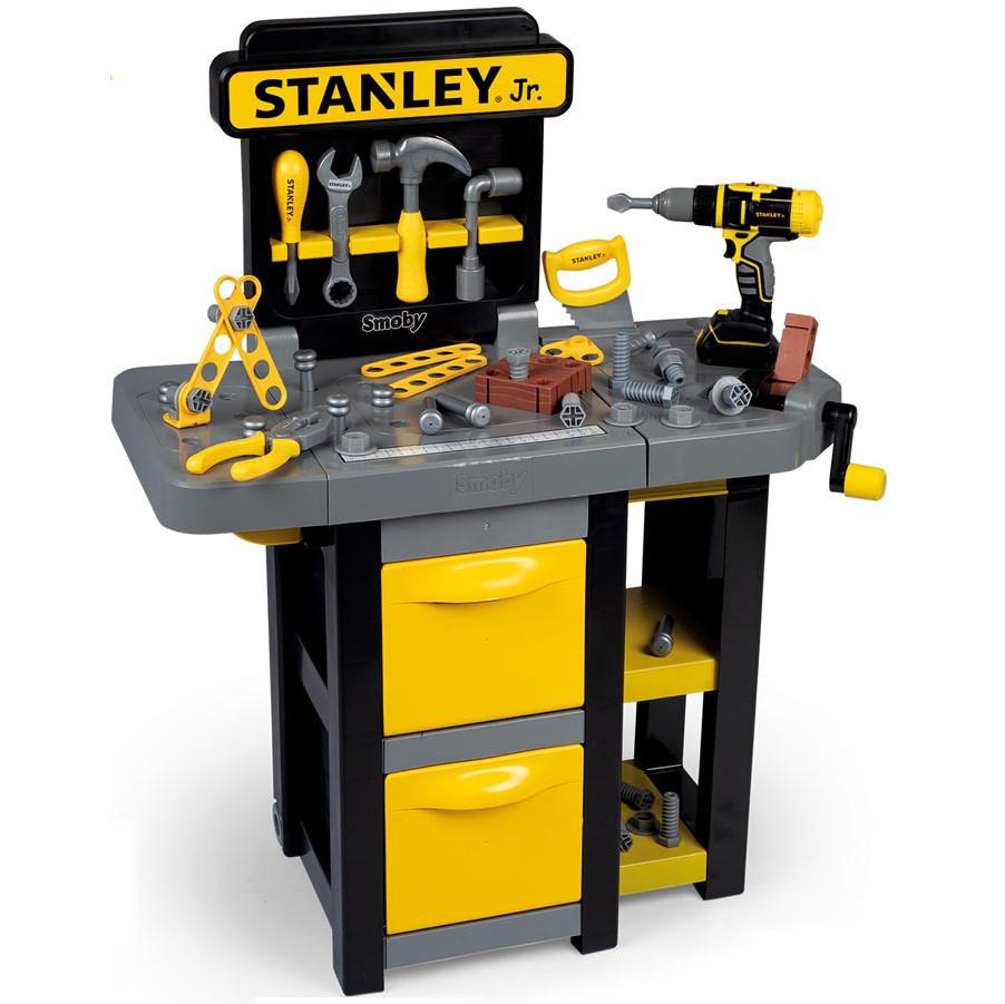 Игровой набор Smoby Toys Stanley Jr Мобильная мастерская с инструментами 37 аксессуаров