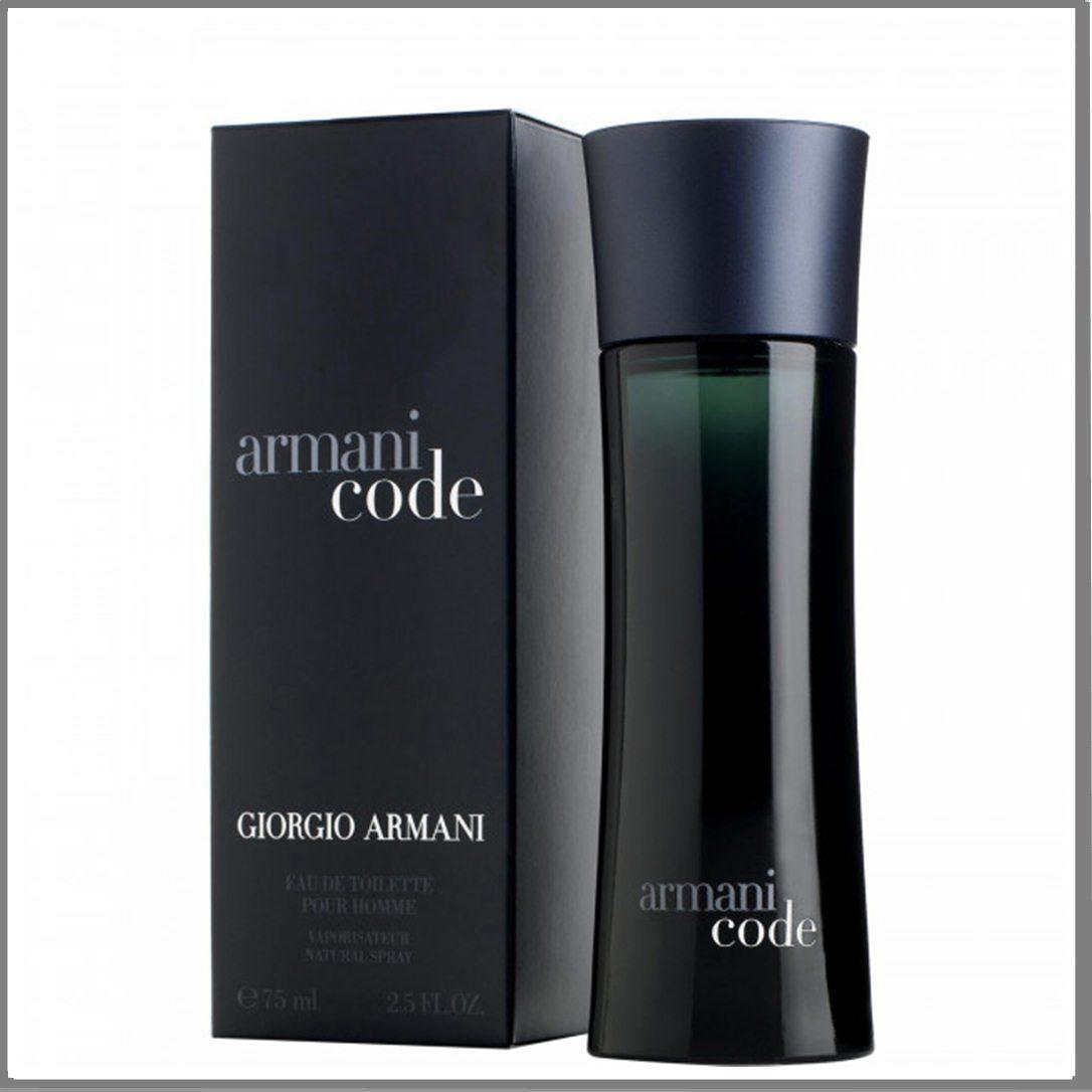Giorgio Armani Code туалетная вода 75 ml. (Армани Блэк Код)