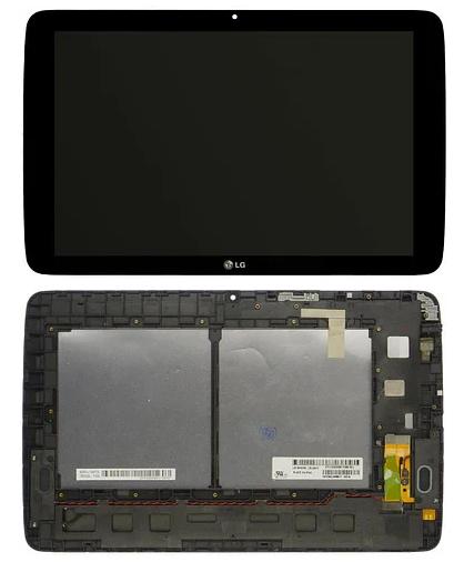 Дисплейний модуль для планшета LG G Pad V700 в зборі з тачскріном, чорний, з рамкою