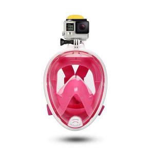 Детская полнолицевая маска для подводного плавания FREE Breath размер XS.
