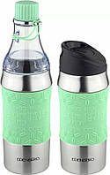 Термокружка-бутылка трансформер 2в1 чёрная Edenberg EB-634 зеленый