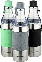 Термокружка-бутылка трансформер 2в1  зелёная, 380 мл Edenberg EB-634 серый