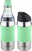 Термокружка-бутылка трансформер 2в1 серая Edenberg EB-634 зеленый