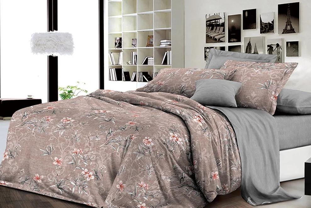 """Комплект постельного белья из ранфорса ТМ """"Ловец снов"""", Цветочный мотив"""