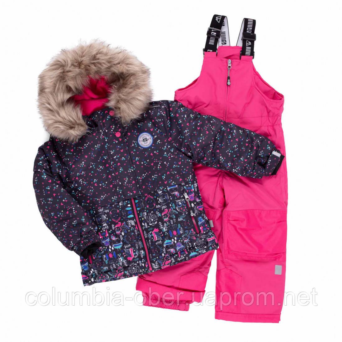 Зимний термокомплект для девочки NANO F20M286 DkNavy Bubblegum. Размеры 3 - 8.