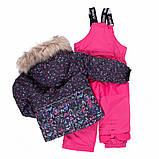 Зимний термокомплект для девочки NANO F20M286 DkNavy Bubblegum. Размеры 3 - 8., фото 3