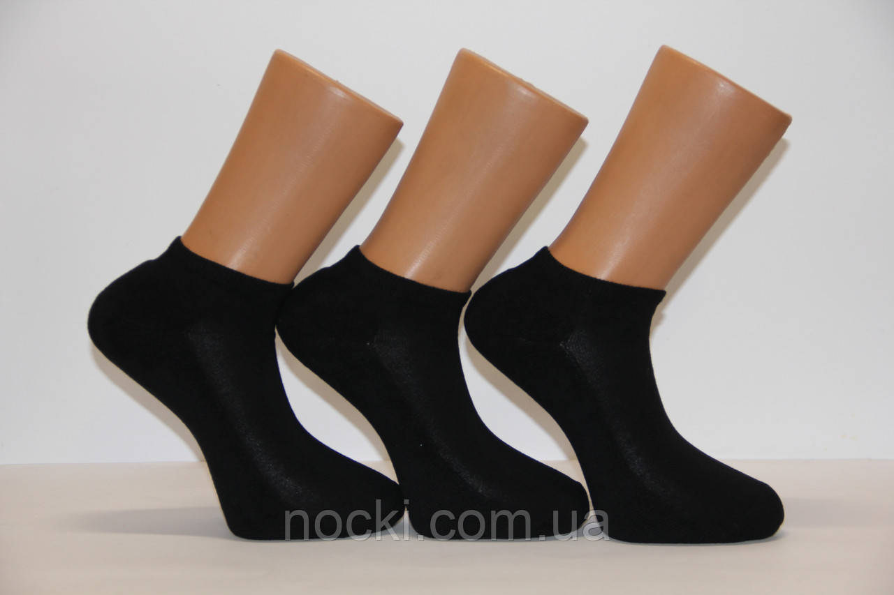 Мужские носки короткие с махровой подошвой PIER LONE  черный