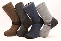 Мужские носки шерстяные высокие с махрой Кардешлер комбинирование   клетка