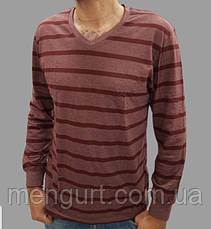 Футболка чоловіча з довгими рукавами 100% БАВОВНА УЗБЕКИСТАН, фото 3