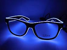 Светящиеся неоновые очки для вечеринок белые