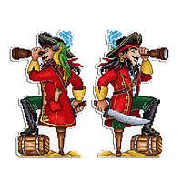 """""""Отважный пират"""" М.П. Студия. Набор для вышивки крестом (Р-450)"""
