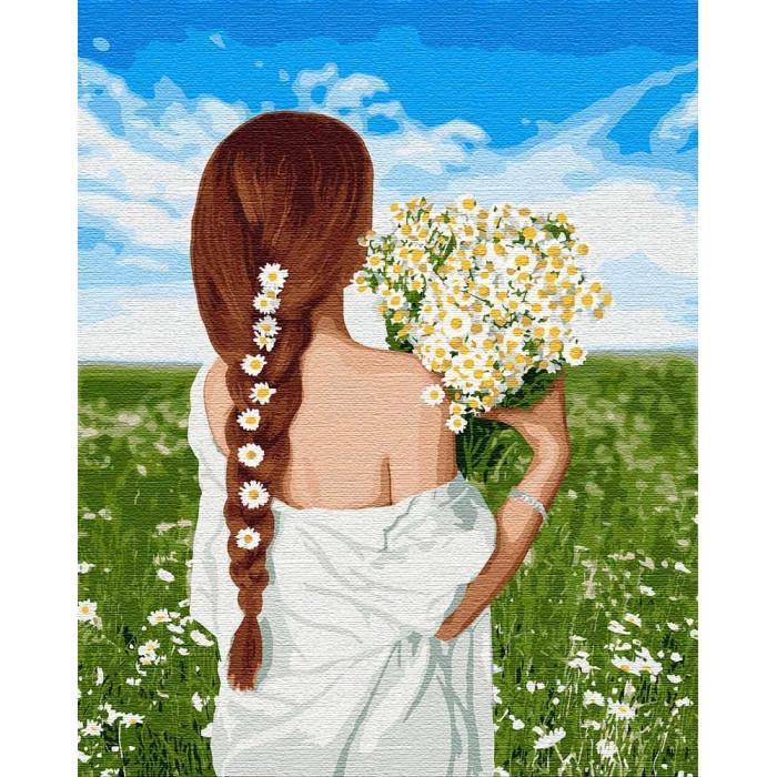 Картина по номерам Чарівна україночка, 40x50 см., Идейка