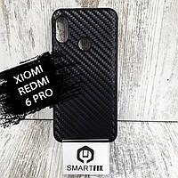 Карбоновий чохол для Xiaomi Redmi 6 Pro Чорний
