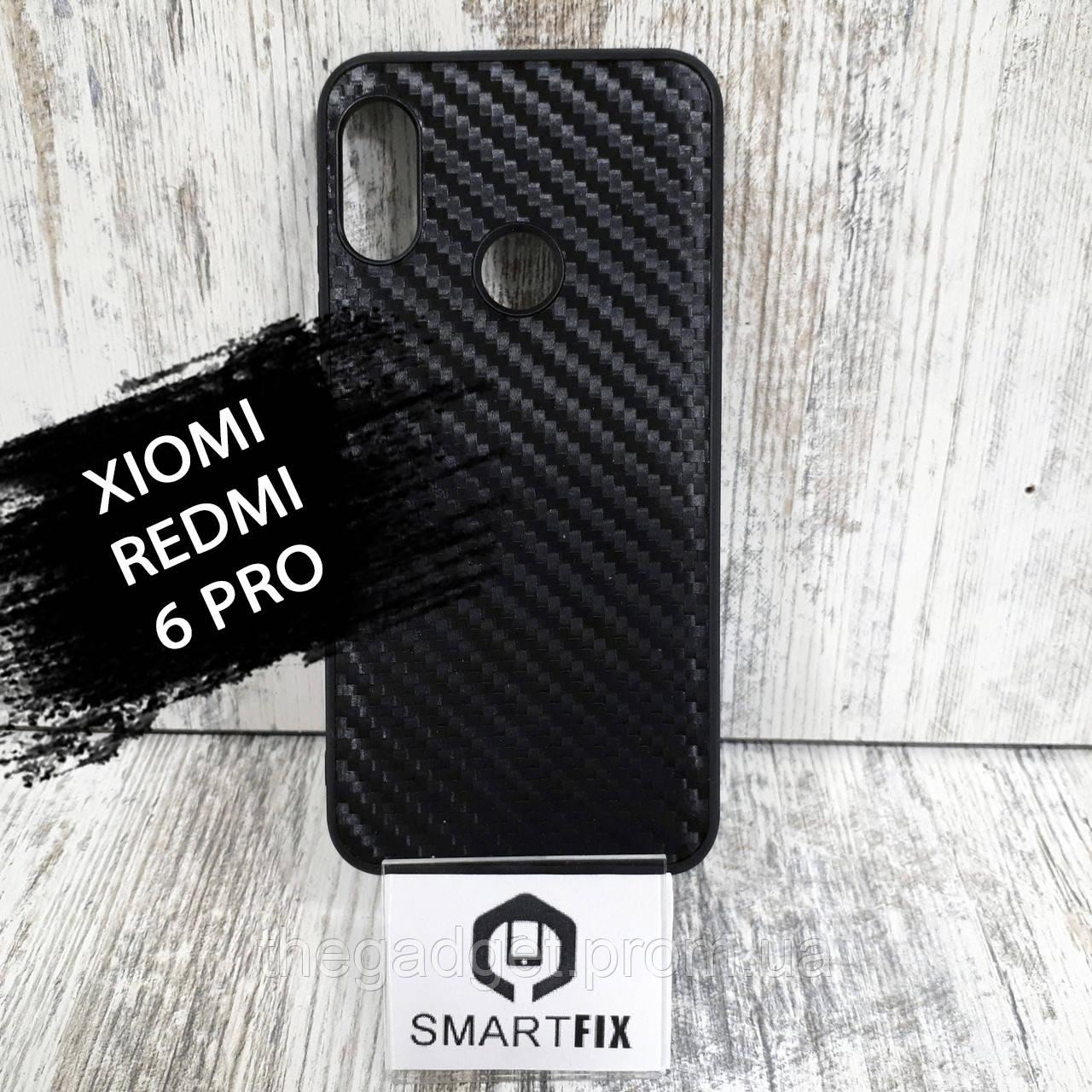 Карбоновий чохол для Xiaomi Mi A2 Lite Чорний