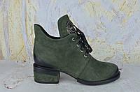 Ботинки женские на маленьком каблуке Lady Marcia ХАКИ