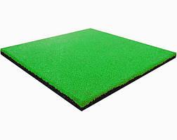 Гумова плитка EPDM 500х500х30 мм (зелено-салатова) PuzzleGym