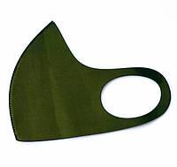 Маска многоразовая защитная неопрен питта серая хаки в упаковке размер L