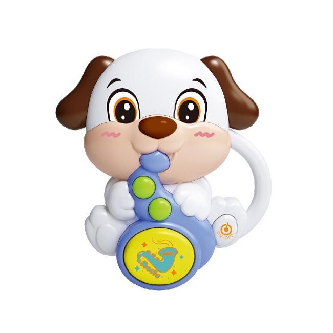 Игрушка Погремушка 855-58A Белая собака