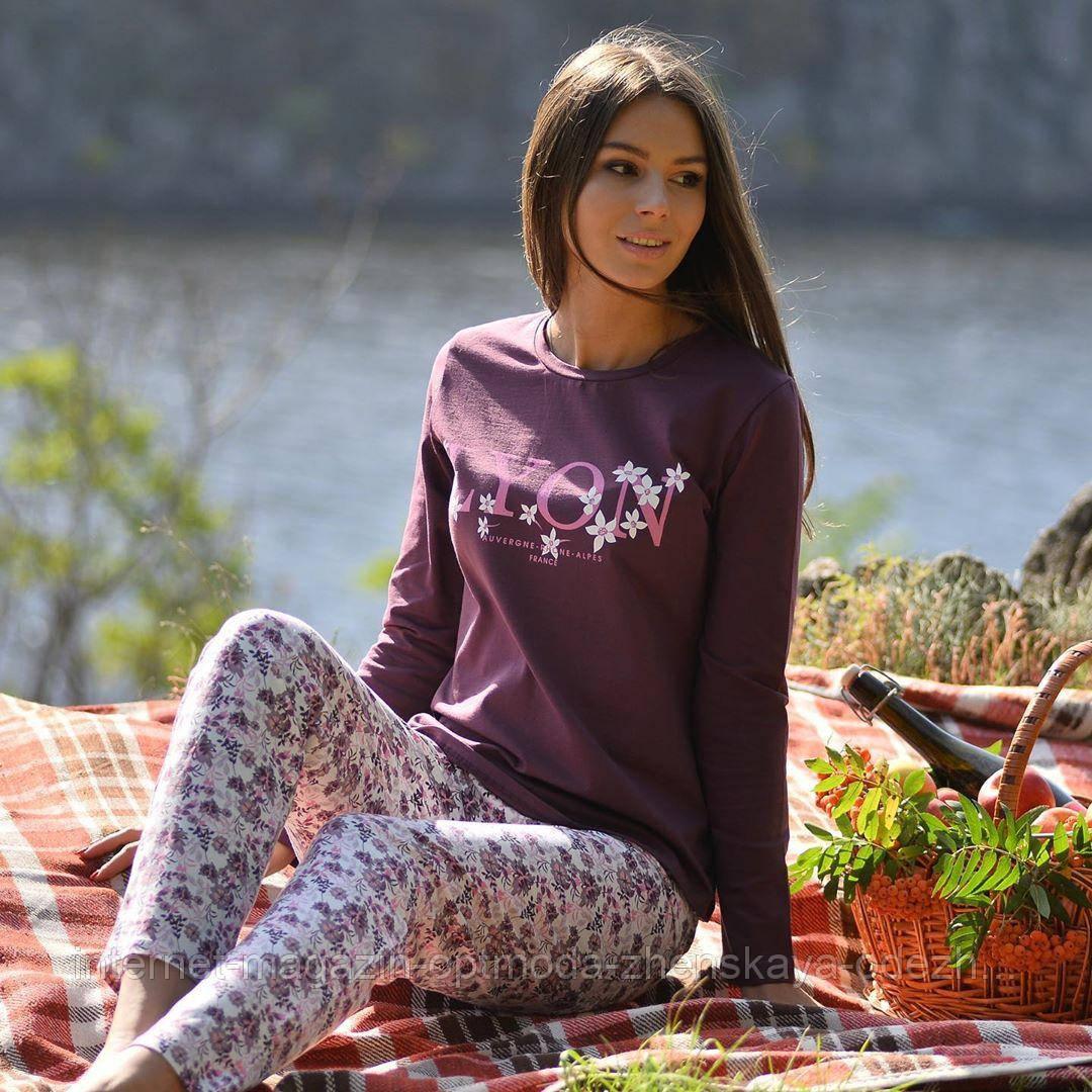 Женская пижама со штанами, вискоза 92%, эластан 8%, размеры M L XL