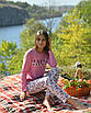 Женская пижама со штанами, вискоза 92%, эластан 8%, размеры M L XL, фото 4