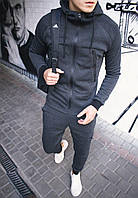 Теплый спортивный костюм мужской, на флисе