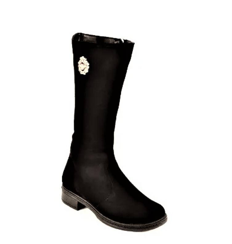 Сапоги женские зимние замшевые черные. Женская обувь 133019