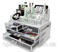 Настільний акриловий органайзер для косметики Cosmetic Storage Box | Бокс органайзер для косметики