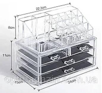 Настільний акриловий органайзер для косметики Cosmetic Storage Box   Бокс органайзер для косметики, фото 2