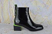 Лаковые ботинки женские на маленьком каблуке Lady Marcia