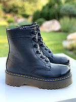 Женские черные кожаные ботинки на платформе Dr.Martens,копия