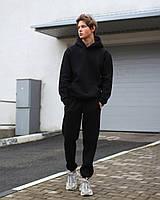 Зимние спортивные штаны мужские на флисе чёрные База от бренда ТУР,размер: XS, S, M, L, XL