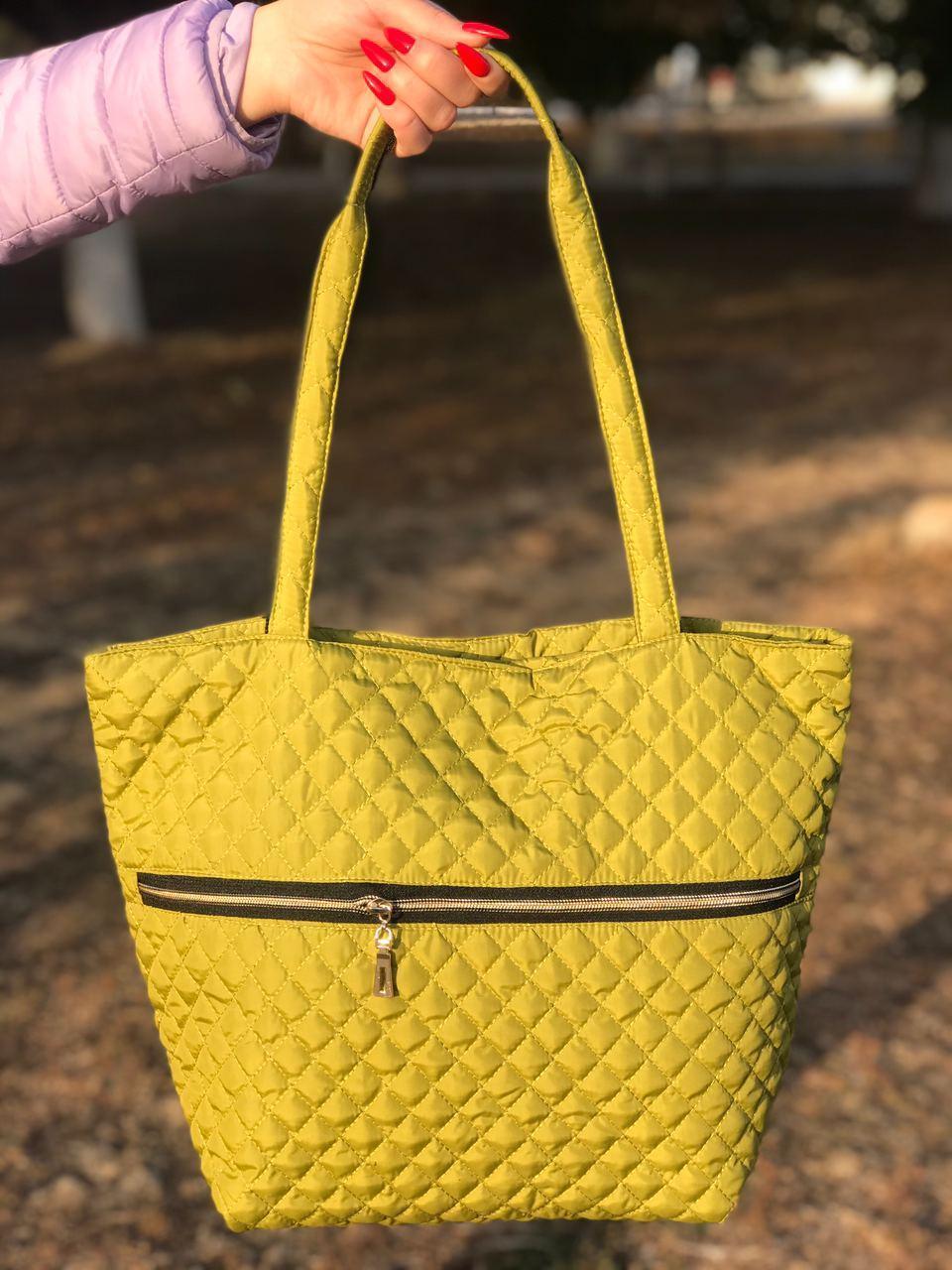 Женская сумка стеганая BR-S зеленая (1276644828)