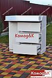 Комод пеленальний( пеленатор) 3+1 Лайт Еко Білий, фото 4