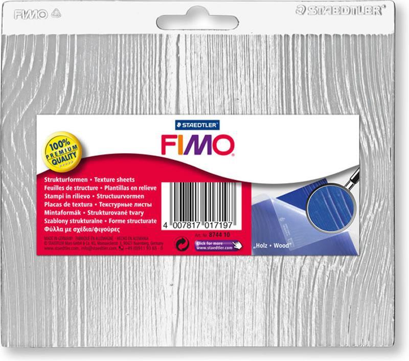 Текстурний лист для полімерної глини Fimo дерево 14х17 см Staedtler, 874410
