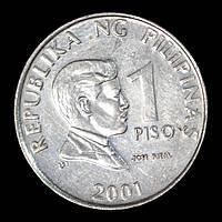 Монета Филиппин 1 песо 2001 г. Хосе Рисаль