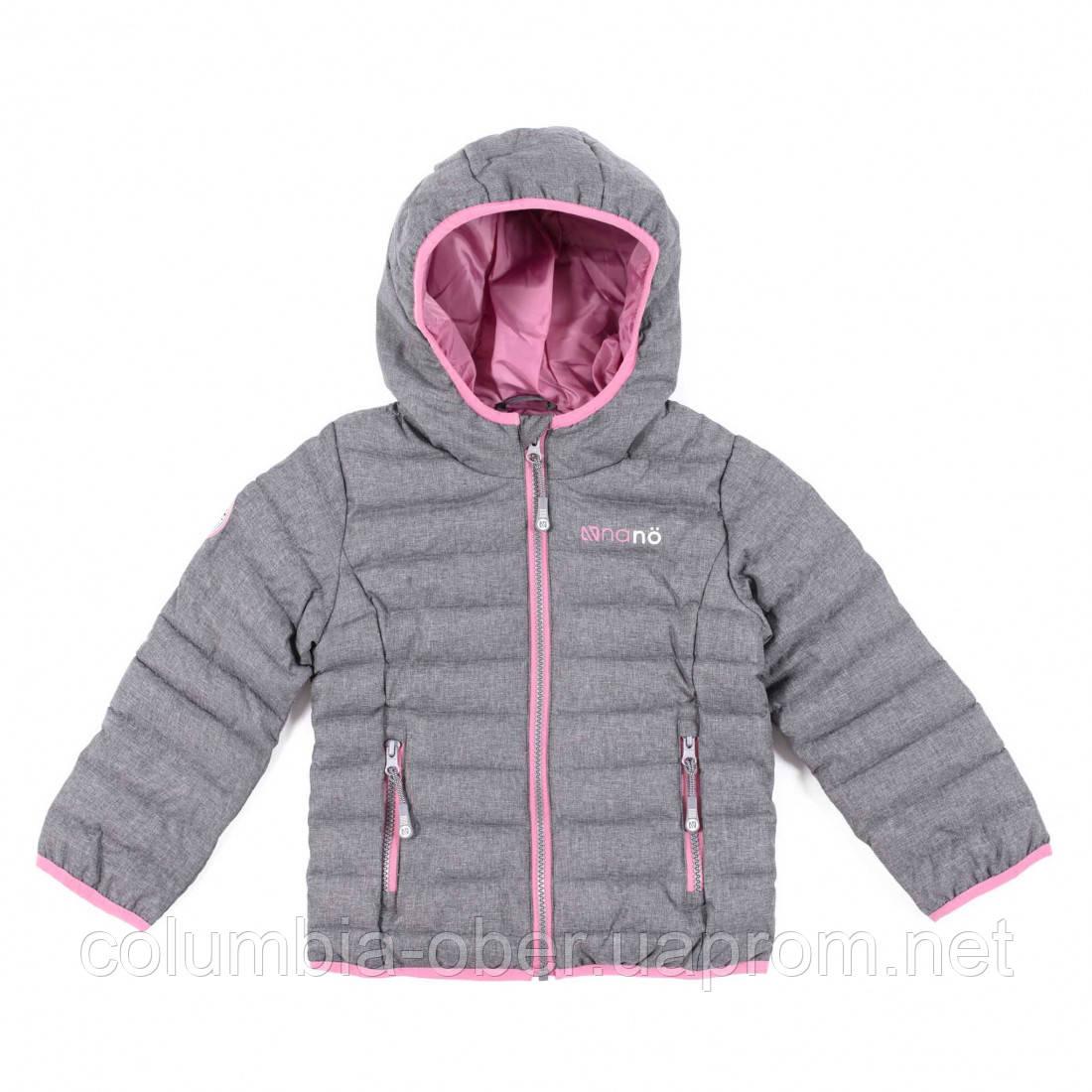 Демисезонная куртка для девочки NANO F20M1250 DustGrayMix. Размеры 2 - 8.