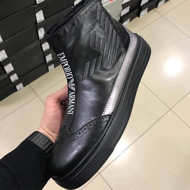Мужские зимние ботинки Armani