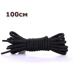 Шнурки для взуття круглі KIWI 100 см чорні
