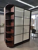 Шкаф купе с стеклами lacobel и ящиками с выставки Тц Ваш Дом