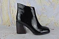 Лаковые ботинки женские на каблуке BROCOLY