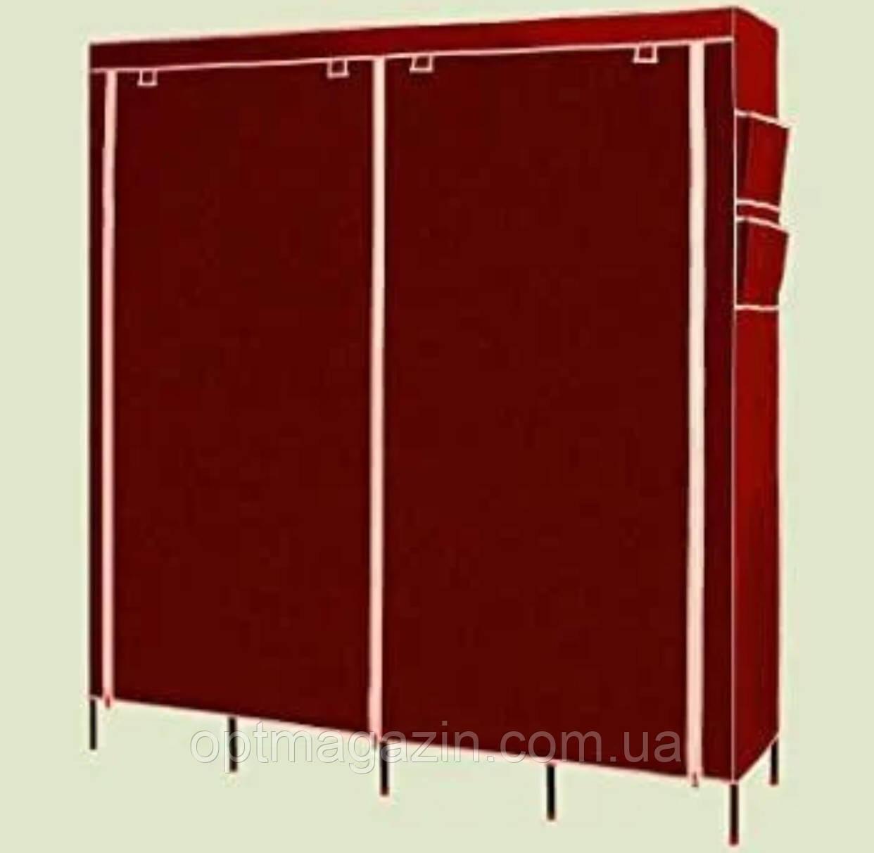 Мобільний тканинної шафа для одягу HCX Storage Wardrobe №28170 коричневий