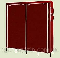 Мобільний тканинної шафа для одягу HCX Storage Wardrobe №28170 коричневий, фото 2