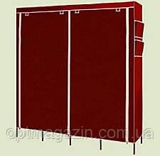 Мобильный тканевой шкаф для одежды HCX Storage Wardrobe №28170 коричневый