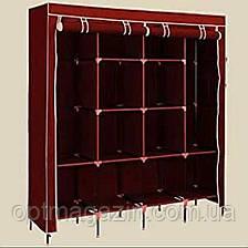 Мобильный тканевой шкаф для одежды HCX Storage Wardrobe №28170 коричневый, фото 2