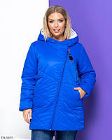 Женская куртка большого размера зимняя размеры: 50, 52, 54, 56, 58